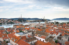 Cityscape of Trogir Royalty Free Stock Photos