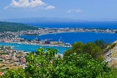 The cityscape Trogir, Croatia royalty free stock image