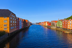 Cityscape of Trondheim, Norway Stock Image