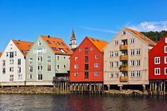 Cityscape of Trondheim, Norway Stock Photos