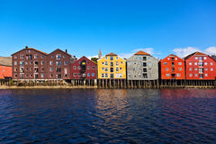 Cityscape of Trondheim, Norway Royalty Free Stock Image