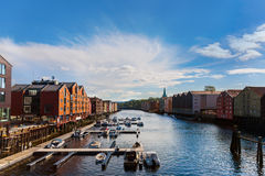 Cityscape of Trondheim Norway royalty free stock image