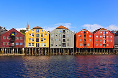 Cityscape of Trondheim, Norway Royalty Free Stock Images