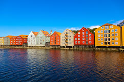 Cityscape of Trondheim Norway Royalty Free Stock Photos