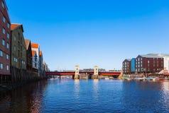 Cityscape of Trondheim Norway Stock Photos
