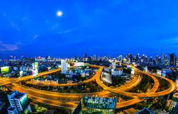 Cityscape in the twilight Royalty Free Stock Photo
