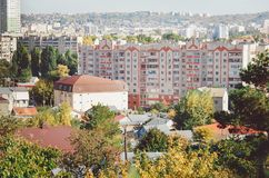 Cityscape. Typical apartment buildings. royalty free stock photography