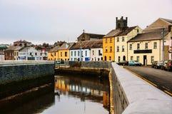 Cityscape under dagen i Waterford, Irland Arkivfoton