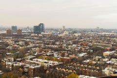 Cityscape under morgonen arkivfoton