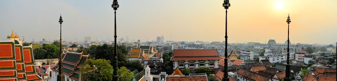 Cityscape in urban Bangkok,capital of Thailand Royalty Free Stock Photo