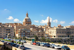 Cityscape of Valletta. Capital city of Malta. Europe Stock Photography