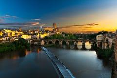 Cityscape van Albi, Frankrijk Royalty-vrije Stock Fotografie