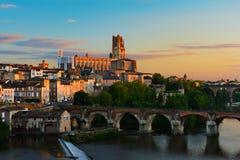 Cityscape van Albi, Frankrijk Stock Afbeelding