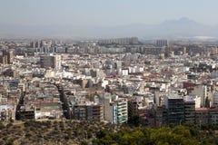 Cityscape van Alicante, Stock Fotografie