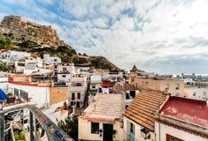 Cityscape van Alicante spanje stock fotografie