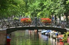 Cityscape van Amsterdam. stock afbeelding