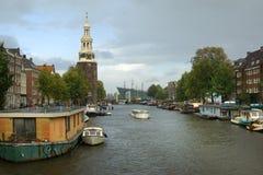 Cityscape van Amsterdam Stock Foto's