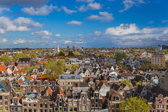 Cityscape van Amsterdam - Nederland Stock Afbeelding