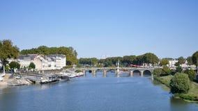 Cityscape van Angers, Frankrijk stock video