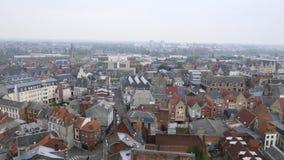 Cityscape van Arras, Frankrijk stock footage