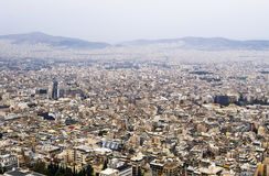 Cityscape van Athene Stock Afbeeldingen