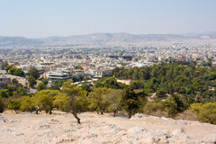 Cityscape van Athene Stock Foto