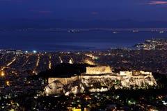 Cityscape van Athene Stock Afbeelding