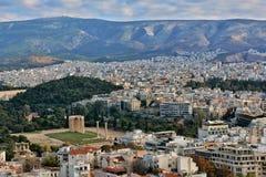 Cityscape van Athene Royalty-vrije Stock Fotografie