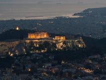 Cityscape van Athene met Akropolis als belangrijkst onderwerp royalty-vrije stock foto