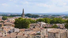Cityscape van Avignon in Frankrijk stock footage