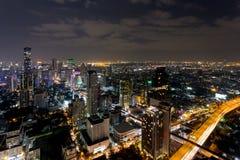 Cityscape van Bangkok van Hemelbar Lebua Royalty-vrije Stock Foto's