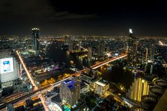 Cityscape van Bangkok van Hemelbar Lebua Royalty-vrije Stock Afbeelding