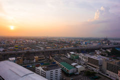 Cityscape van Bangkok Rangsit Thailand Royalty-vrije Stock Foto's