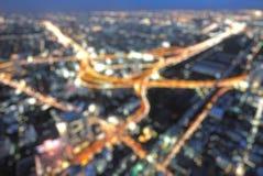 Cityscape van Bangkok in schemeringtijd stock foto's