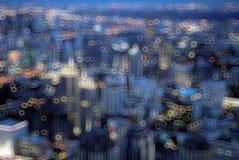 Cityscape van Bangkok in schemeringtijd stock foto