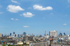 Cityscape van Bangkok, Thailand Stock Afbeelding