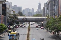 Cityscape van Bangkok - verkeer Stock Afbeelding