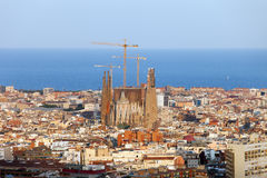 Cityscape van Barcelona Stock Foto's