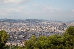 Cityscape van Barcelona Stock Foto