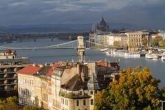 Cityscape van Boedapest Stock Foto's