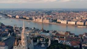 Cityscape van Boedapest stock video