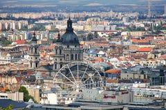 Cityscape van Boedapest, Hongarije Royalty-vrije Stock Foto's