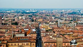 Cityscape van Bologna Royalty-vrije Stock Foto's