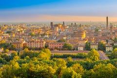 Cityscape van Bologna royalty-vrije stock afbeeldingen