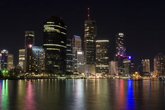 Cityscape van Brisbane royalty-vrije stock fotografie