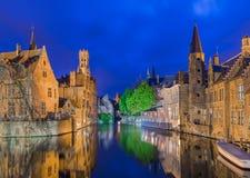 Cityscape van Brugge - België stock afbeeldingen