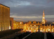 Cityscape van Brussel. Royalty-vrije Stock Foto's