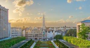 Cityscape van Brussel Stock Fotografie