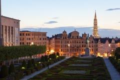 Cityscape van Brussel Stock Foto