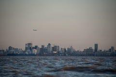 Cityscape van Buenos aires bij Schemer Royalty-vrije Stock Afbeeldingen